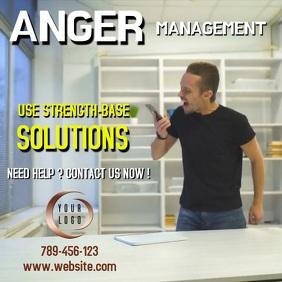 Anger management template Сообщение Instagram