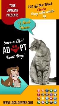 animal adopt insta story