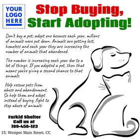 Animal adoption template