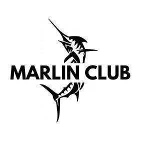 animal black and white fish marlin logo template