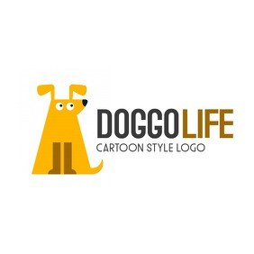 animal cartoon dog icon logo Логотип template