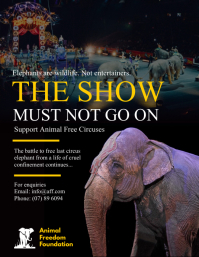 Animal Free Circuses Campaign Poster Template