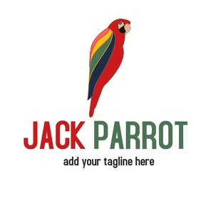 animal parrot icon logo template