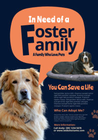 Animal Foster Flyer A4 template