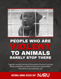 Animal Rights Awareness Campaign Poster Template