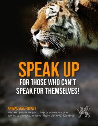 Animal Rights Awareness Poster Template