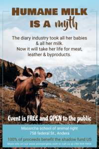 Animal Rights Conference Event Poster Template