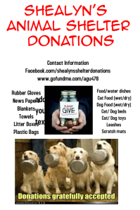 Animal shelter donations