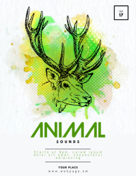 Animal Sounds Flyer Template