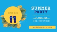 Animated Beach Summer Party Facebook Cover Vi template