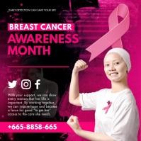 Animated Breast Cancer Awareness Invitation Сообщение Instagram template