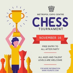 Animated Chess Tournament Square Video