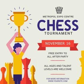 Animated Chess Tournament Square Video Cuadrado (1:1) template