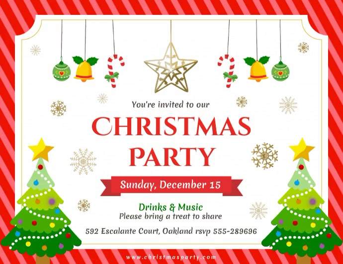 Animated Christmas Greeting Card Flyer template