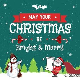 Animated Christmas Greeting Square Video