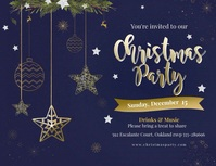 Animated Christmas Party Flyer Folder (US Letter) template