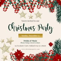 Animated Christmas Party Invitation Publicación de Instagram template