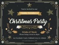 Animated Christmas Party invite Volantino (US Letter) template