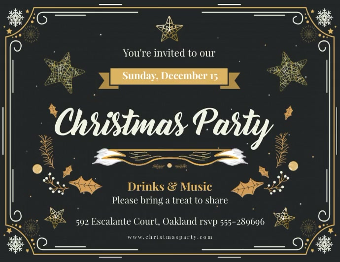 Animated Christmas Party invite Flyer (US Letter) template