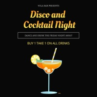 Animated Disco and Cocktail Night Instagram V template