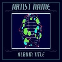 Animated Geometric Album Cover template