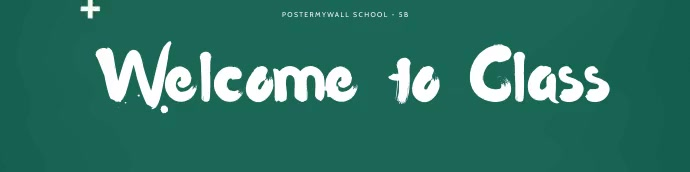 Animated Google Classroom banner template