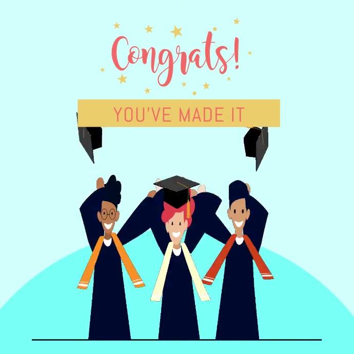 Animated Graduating Class Congrats Instagram template