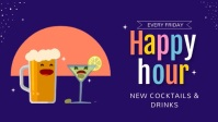 Animated Happy Hour Facebook Cover Video Temp template