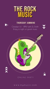 Animated Monster Jamming Concert Instagram St template