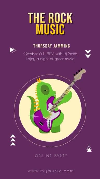 Animated Monster Jamming Concert Instagram St template