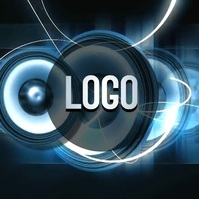 animated music logo design template Logótipo