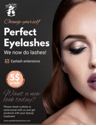 Animated Perfect Eyelash Extensions Flyer