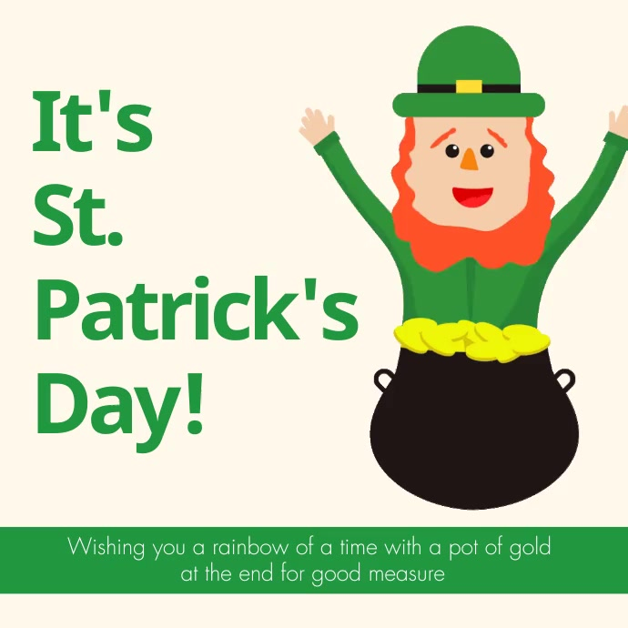 Animated St. Patricks Day Instagram Video Tem template