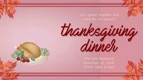 Animated Thanksgiving Facebook Cover Video Template