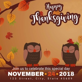 Animated Thanksgiving Video Advert Template