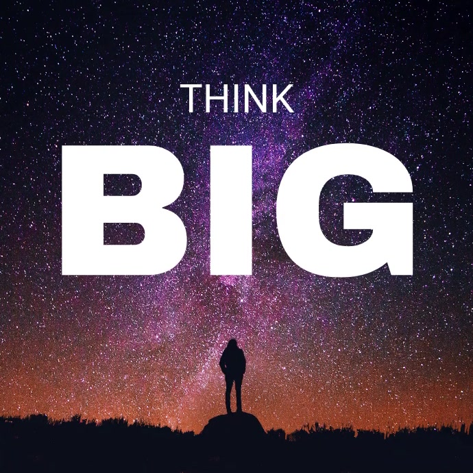 Animated Think Big Motivational Instagram Quote Post