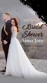Anniversary,wedding,event,bridal shower Historia de Instagram template