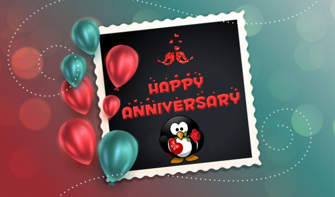 ANNIVERSARY CARD Label template