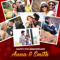 Anniversary Celebration Banner Template Instagram Post