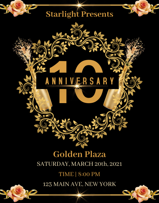 Anniversary Celebration Póster/Tablero template