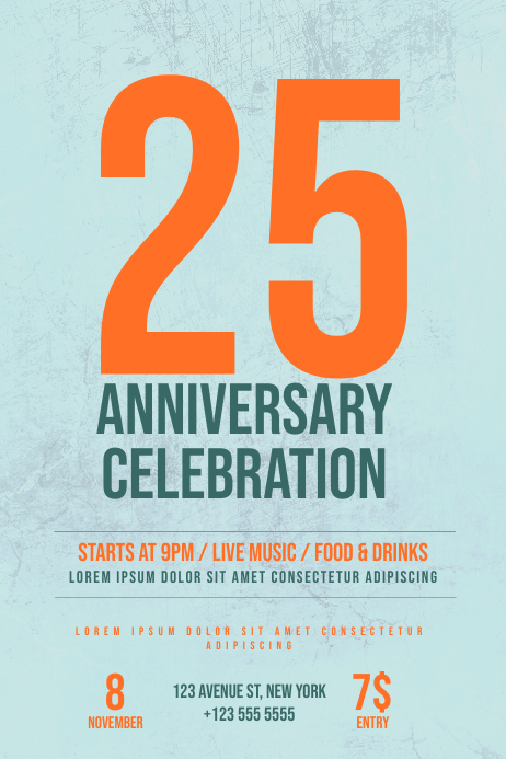 Anniversary Celebration Flyer Template