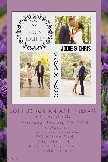 Anniversary Celebration Invitation