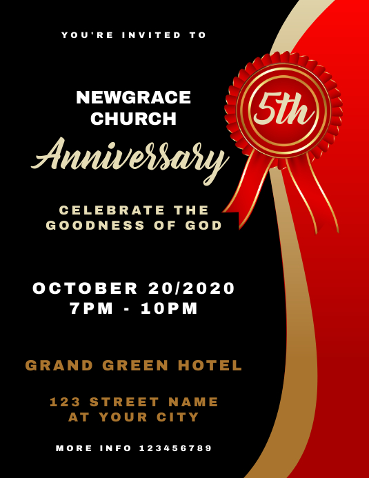 Anniversary Church Flyer