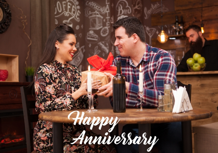 Anniversary couple anniversary A4 template
