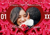 Anniversary Couples Valentine's Photo Video A4 template