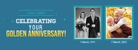 Anniversary facebook cover template