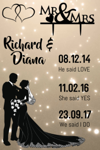 Romantic Gift Poster template