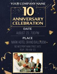 Anniversary invitation Template Volantino (US Letter)