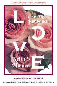 Anniversary Invitation Template Design