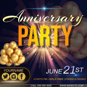 anniversary PARTY AD INSTAGRAM TEMPLATE